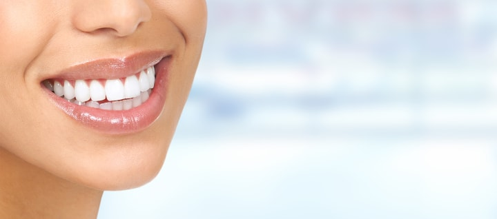 Woman Showing Off Her White Teeth