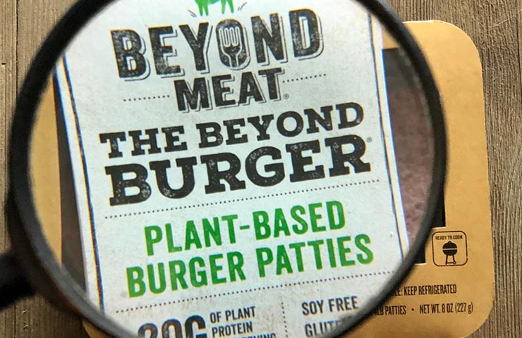 Beyond Meat plant based burger patties for Veganuary