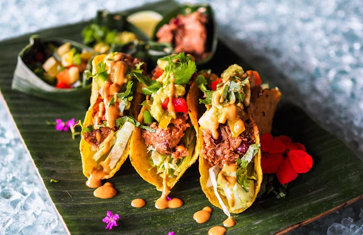 Healthy vegan jackfruit tacos for Veganuary